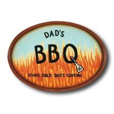 """Dad's BBQ"" Outdoor Sign"
