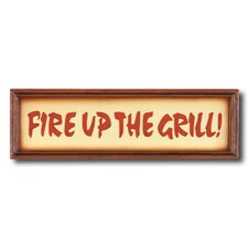 """Fire Up the Grill"" Outdoor Sign"