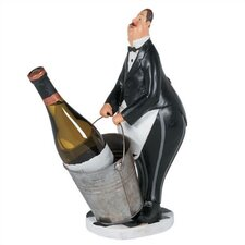 <strong>RAM Gameroom Products</strong> Butler in Black Tuxedo Wine Holder
