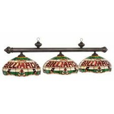 <strong>RAM Gameroom Products</strong> 3 Light Tiffany Billiard Light