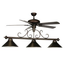 3 Light Billiard Light with Ceiling Fan