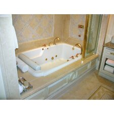 "Designer Atlandia 74"" x 48"" Whirlpool Tub with Combo System"