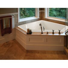 "Designer Courtney 60"" x 48"" Whirlpool Tub with Combo System"