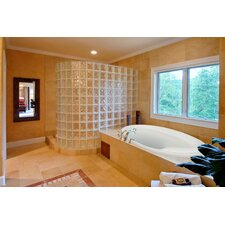 """Designer Deanna 60"""" x 40"""" Whirlpool Tub with Combo System"""
