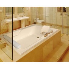"""Designer Duo 66"""" x 48"""" Whirlpool Tub with Combo System"""