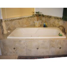 """Designer Isabella 66"""" x 36"""" Whirlpool Tub with Combo System"""