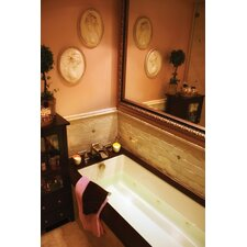 """Designer Lacey 72"""" x 40"""" Whirlpool Tub with Combo System"""