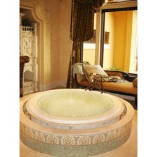 "Designer 69"" x 69"" Redondo Whirlpool Tub with Combo System"