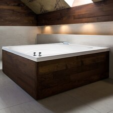 "Designer Alexis 60"" x 48"" Whirlpool Tub with Combo System"