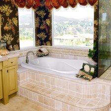 """Designer Cassi 60"""" x 42"""" Whirlpool Tub with Combo System"""