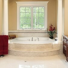 "Designer Largo 82"" x 64"" Air Tub with Thermal System"