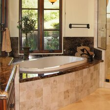 "Designer 77"" x 44"" Savannah Bathtub with Combo System"
