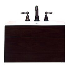 "Modesta Walnut 24"" Wall Mount Wood Vanity Cabinet"