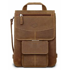 <strong>MacCase</strong> Premium Leather iPad Flight Jacket with Backpack Option in Vinatge
