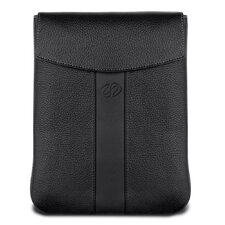 Premium Leather Vertical iPad Sleeve in Black