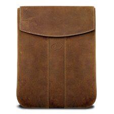 Premium Leather Vertical iPad Sleeve in Vintage