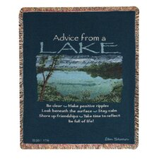 <strong>Manual Woodworkers & Weavers</strong> Advice From a Lake Tapestry Cotton Throw