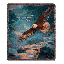 <strong>Manual Woodworkers & Weavers</strong> American Majesty Verse Tapestry Cotton Throw