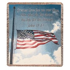 <strong>Manual Woodworkers & Weavers</strong> Salute to Our Soldiers Tapestry Cotton Throw