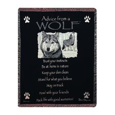 <strong>Manual Woodworkers & Weavers</strong> Advice From a Wolf Tapestry Cotton Throw