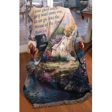 <strong>Manual Woodworkers & Weavers</strong> Church in the Country Verse Tapestry Cotton Throw