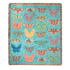 Butterfly Kaleidoscope Tapestry Cotton Throw