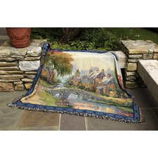 Cobblestone Bridge Verse Tapestry Cotton Throw