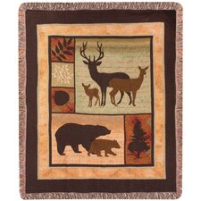 Call of the Wild Tapestry Cotton Throw