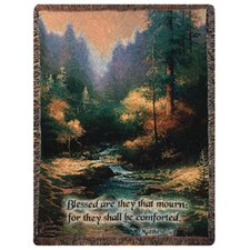 <strong>Manual Woodworkers & Weavers</strong> Creekside Trail Verse Tapestry Cotton Throw