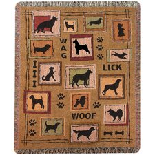 Dog to the Rescue Tapestry Cotton Throw