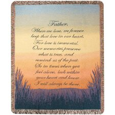<strong>Manual Woodworkers & Weavers</strong> Forever a Father Tapestry Cotton Throw