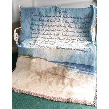 Footprints in the Sand Tapestry Cotton Throw