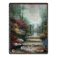 <strong>Manual Woodworkers & Weavers</strong> Garden of Prom Verse Tapestry Cotton Throw