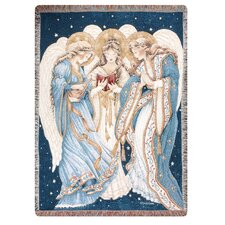 <strong>Manual Woodworkers & Weavers</strong> Three Angels Tapestry Cotton Throw