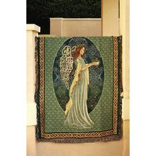 Irish Angel Tapestry Cotton Throw