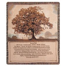 <strong>Manual Woodworkers & Weavers</strong> Living Life Tapestry Cotton Throw