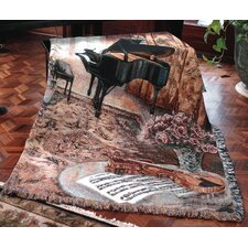 Music Room Tapestry Cotton Throw