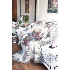 Whisper Wings Verse Tapestry Cotton Throw