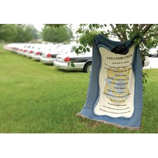 Policeman's Prayer Tapestry Cotton Throw