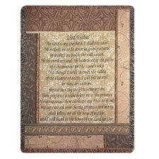 My Shepherd 23rd Psalm Tapestry Cotton Throw