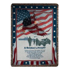 <strong>Manual Woodworkers & Weavers</strong> Soldier's Prayer Tapestry Cotton Throw
