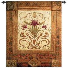 Crimson Blossom Tapestry