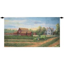 White Farm House Tapestry