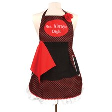 Mrs. Always Right Couples Apron