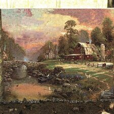 <strong>Manual Woodworkers & Weavers</strong> Sunset at Riverbend Farm Tapestry Cotton Throw