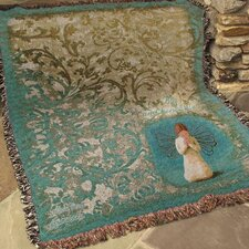 <strong>Manual Woodworkers & Weavers</strong> Willow Tree Angel Tapestry Cotton Throw