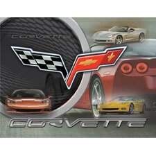 Corvette - C6 Graphic Art on Canvas