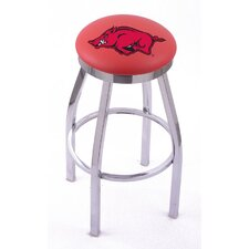 NCAA Single Chrome Ring Swivel Barstool