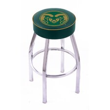 NCAA Single Ring Swivel Barstool with Chorme Base