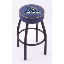 NCAA Single Ring Swivel Barstool with Black Base